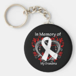 Grandma - In Memory Lung Cancer Heart Key Chains