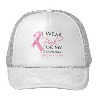 Grandma Inspiring Courage Breast Cancer Mesh Hat