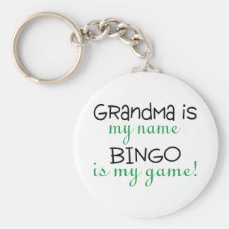 Grandma Is My Name Bingo Is My Game Key Ring