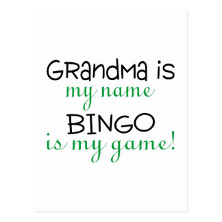 Grandma Is My Name Bingo Is My Game Post Card