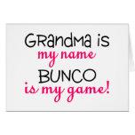 Grandma Is My Name Bunco Is My Game Card