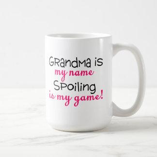Grandma Is My Name Spoiling Is My Game Basic White Mug