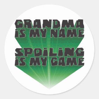Grandma Is My Name Round Stickers