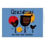 Grandma Life's Best Teacher Card