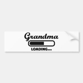 Grandma loading bumper sticker