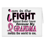 Grandma Means The World To Me Breast Cancer Cards