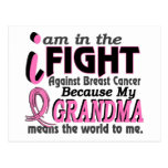 Grandma Means The World To Me Breast Cancer Postcards