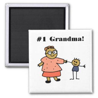"Grandma/Mom Holding Child""s Hand Square Magnet"
