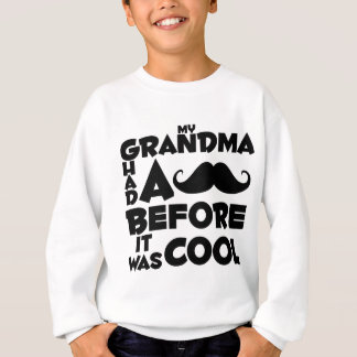grandma mustache sweatshirt