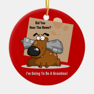 Grandma News (Customizable) Christmas Ornament