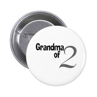 Grandma Of 2 6 Cm Round Badge