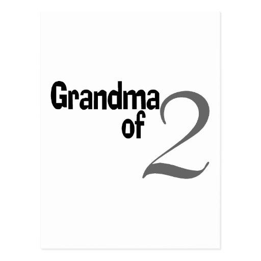 Grandma Of 2 Post Card