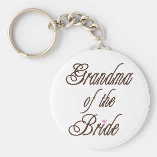 Grandma of Bride Classy Browns Keychain