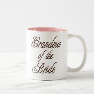 Grandma of Bride Classy Browns Two-Tone Coffee Mug