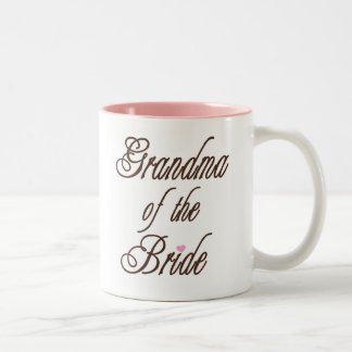 Grandma of Bride Classy Browns Two-Tone Mug