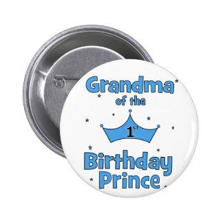 Grandma of the 1st Birthday Prince! 6 Cm Round Badge