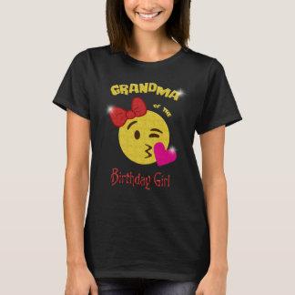 Grandma of the Birthday Girl Emoji Birthday Party T-Shirt