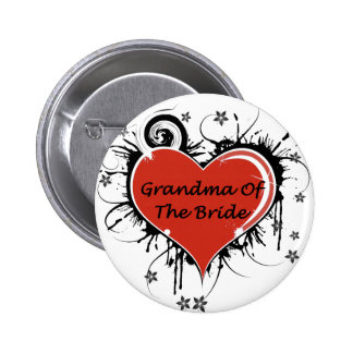 Grandma Of The Bride 6 Cm Round Badge
