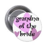 Grandma of the Bride 6 Cm Round Badge