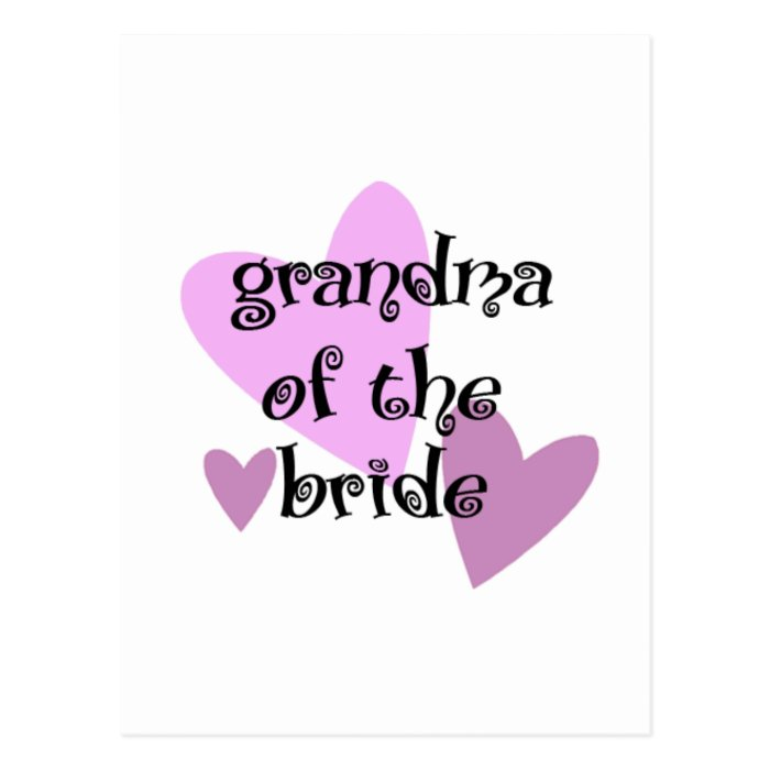 Grandma of the Bride Postcard