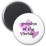 Grandma of the Bride Refrigerator Magnets