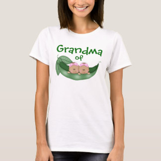 Grandma of Twin Girls (dark skin) T-Shirt