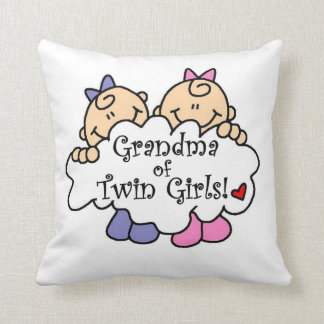 Grandma of Twin Girls Gifts Throw Pillow