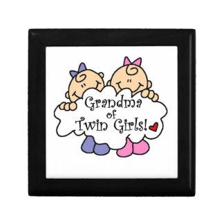 Grandma of Twin Girls Gifts Jewelry Box