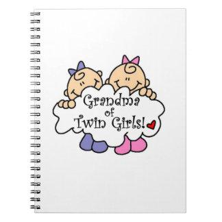 Grandma of Twin Girls Gifts Note Books