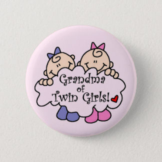 Grandma of Twin Girls Tshirts and Gifts 6 Cm Round Badge