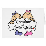 Grandma of Twin Girls Tshirts and Gifts Card