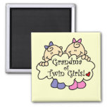 Grandma of Twin Girls Tshirts and Gifts Magnet
