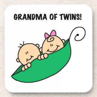Grandma of Twins Gifts Drink Coasters