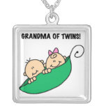 Grandma of Twins Gifts Necklace