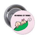 Grandma of Twins Peas in a Pod Tshirts and Gifts Button
