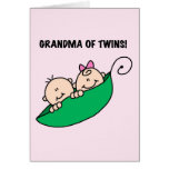 Grandma of Twins Peas in a Pod Tshirts and Gifts Greeting Card