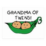 Grandma of Twins Pod Post Card