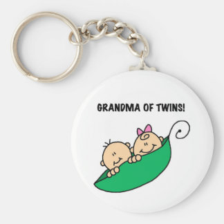 Grandma of Twins Tshirts and Gifts Key Ring