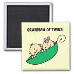 Grandma of Twins Tshirts and Gifts Magnets