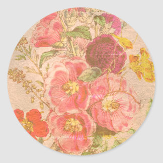 Grandma Old Fashioned Bouquet Classic Round Sticker