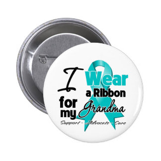 Grandma - Ovarian Cancer Ribbon 6 Cm Round Badge