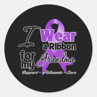 Grandma - Pancreatic Cancer Ribbon Round Sticker