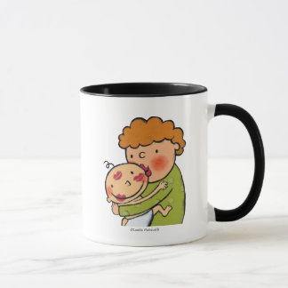 Grandma Pink Lipstick Kisses for Baby Mug