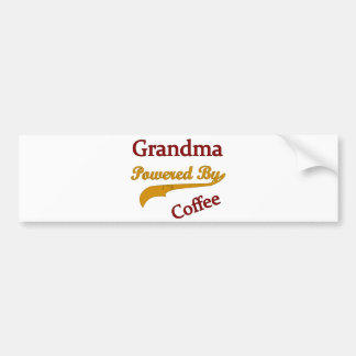 Grandma Powered By Coffee Bumper Sticker