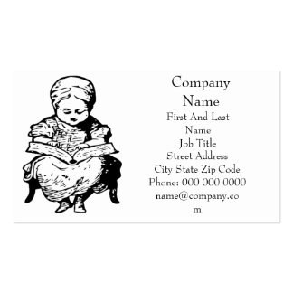 Grandma Read You a Story Cartoon Design Business Card Template