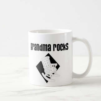 Grandma Rocks Basic White Mug