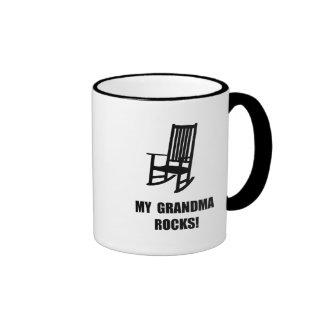 Grandma Rocks Ringer Mug
