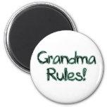 Grandma Rules! 6 Cm Round Magnet