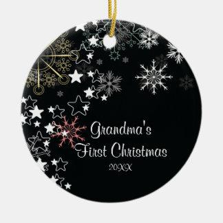 Grandma s First Christmas Snowflake Ornament