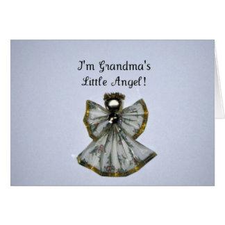 Grandma s little angel greeting card